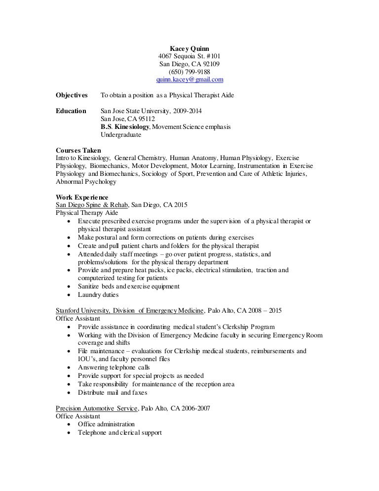 exercise physiologist resume