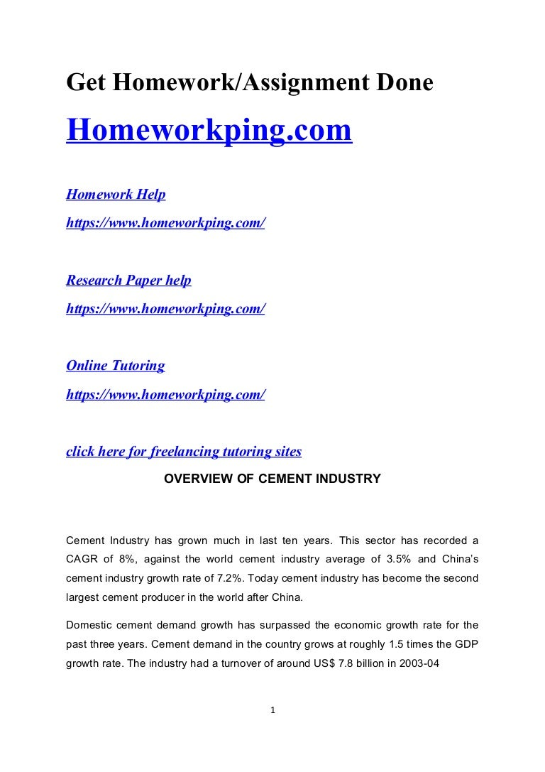 Cement industry: a selection of sites
