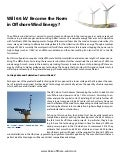 Will 66kv Become the Norm in Offshore Wind Energy?
