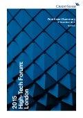 Credit Suisse High-Tech Forum Report
