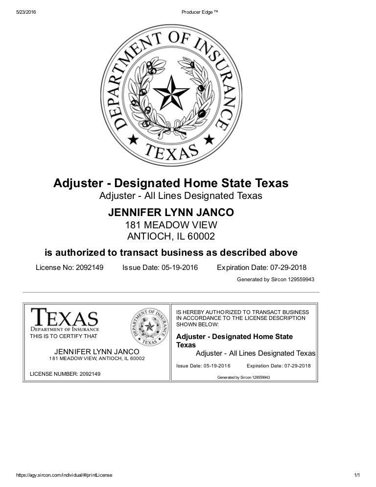 Insurance License Texas