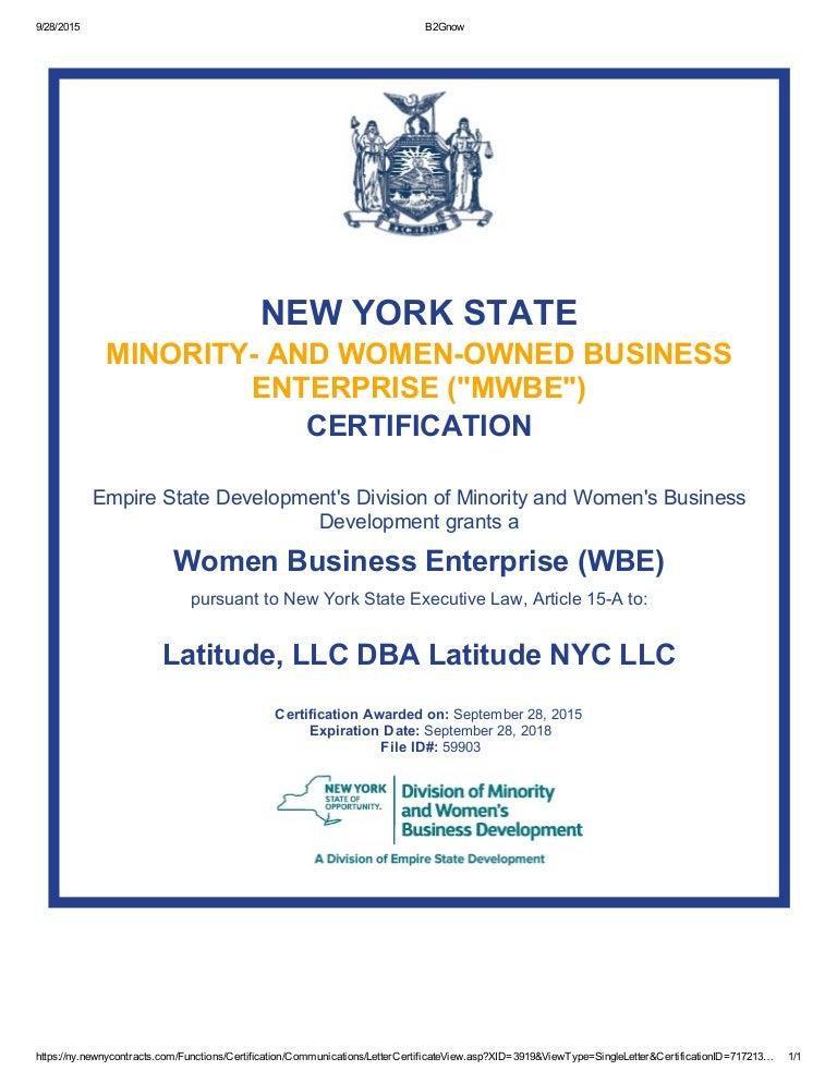 Latitude Certificate 92815