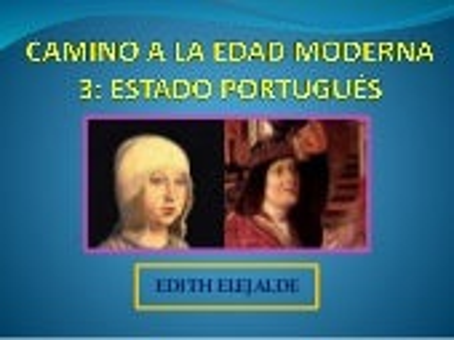 UNIFICACIÓN DEL REINO DE PORTUGAL