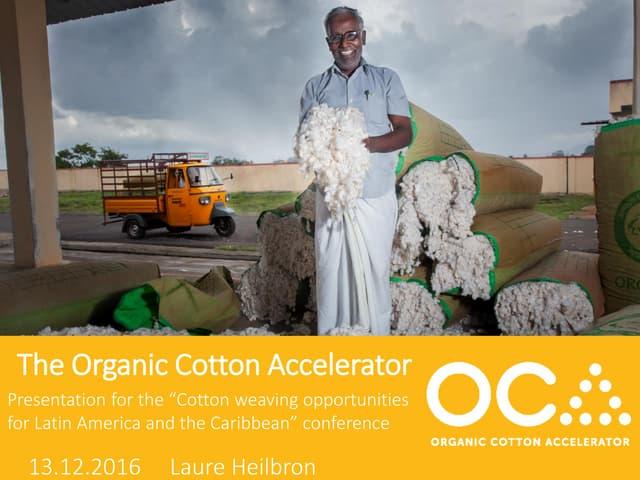 La experiencia de Organic Cotton Accelerator (OCA) para la conformación de mercados – Laure Heilbron