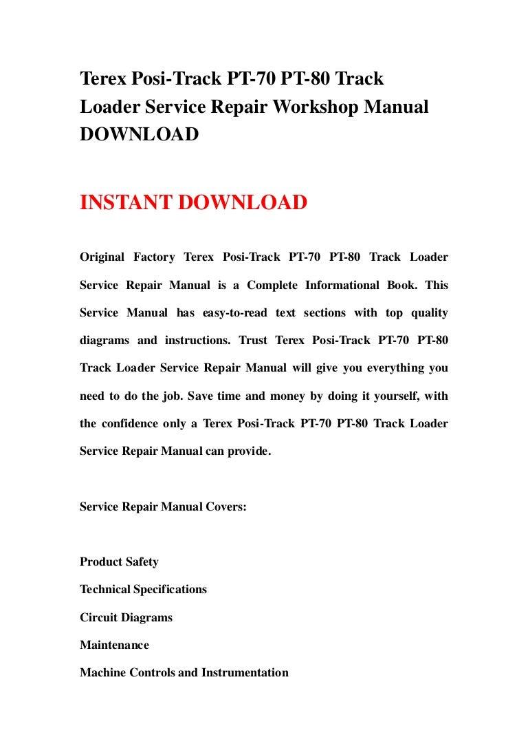 Asv Pt 80 Wiring Diagram Sample Polaris Ez Go Harness Terex Posi Track 70 Loader Service Repair Workshop Man Diagrams
