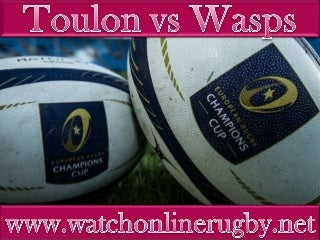 watch Toulon vs Wasps live coverage