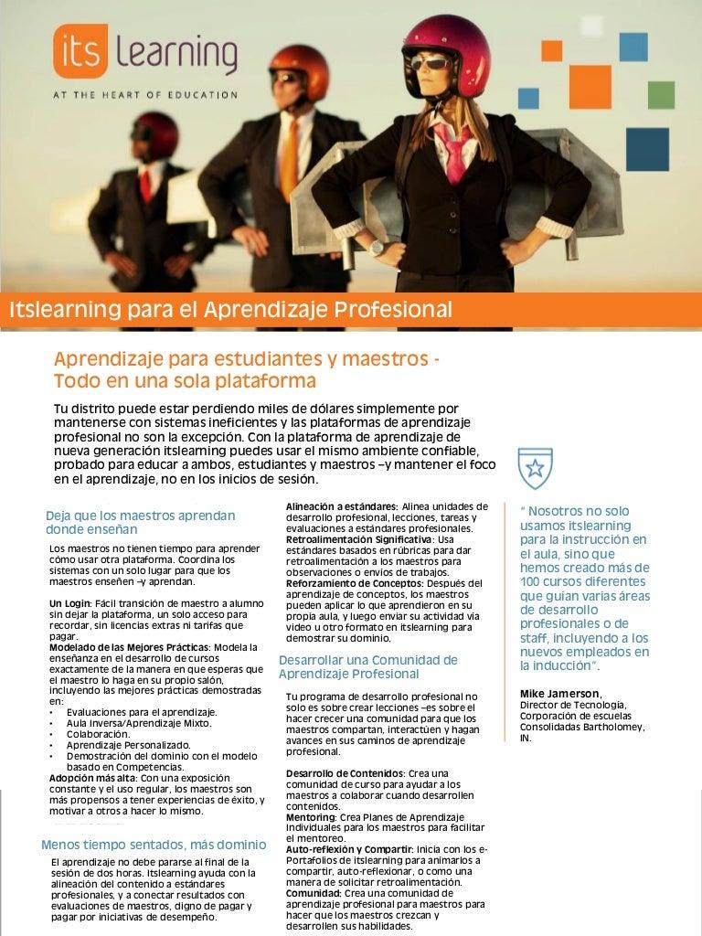 itslearning para el aprendizaje profesional