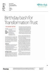 24.9.10 PR Week, my review of the Transformation Trust's anniversary event PR (part 1)