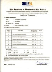 ibsl exam past papers