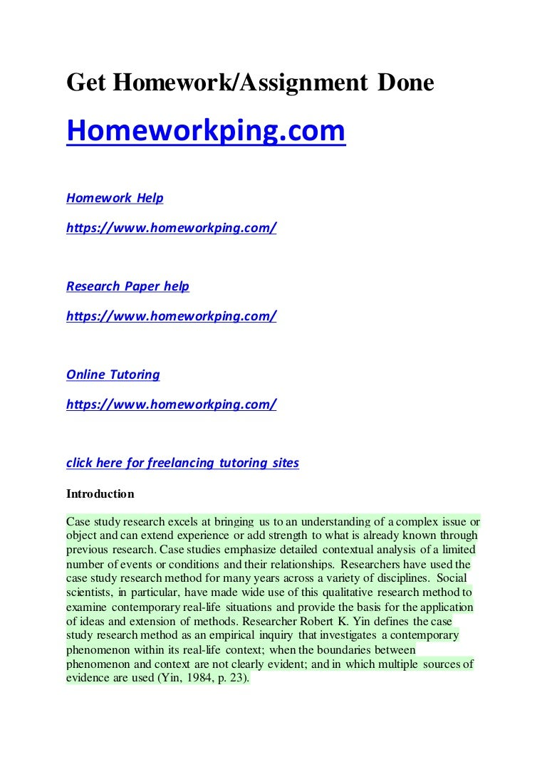Case Study Homework Help   Video Dailymotion  Online Foreign Marketing Features Assignment Help