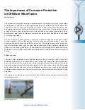 Protection against corrosion for offshore wind turbines