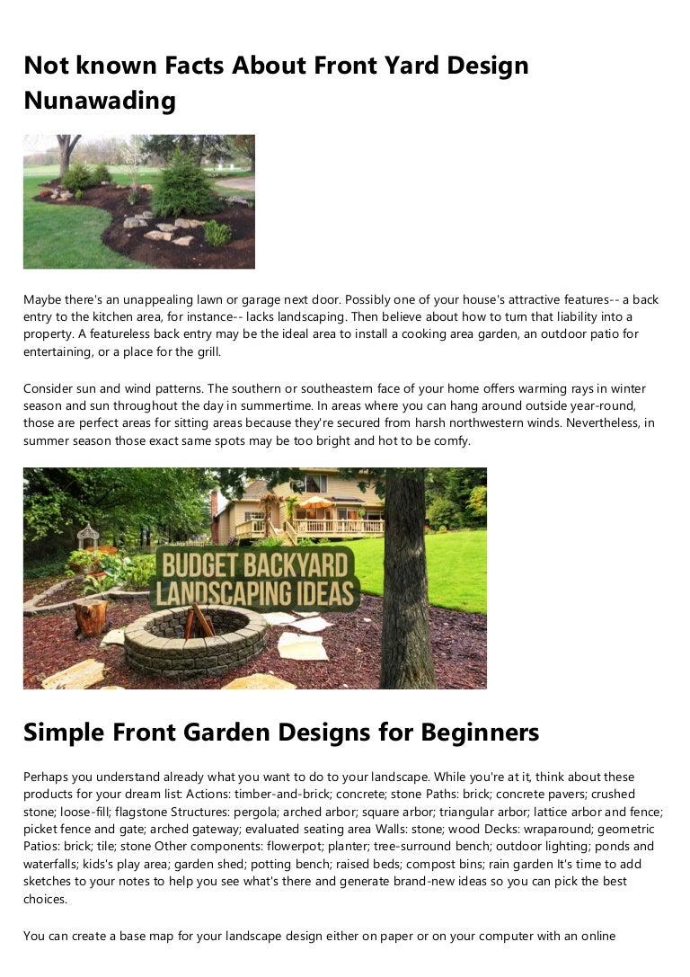 10 Simple Techniques For Small Backyard Garden