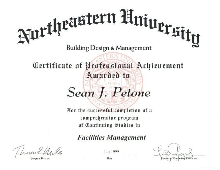 Facilities Management Certificate