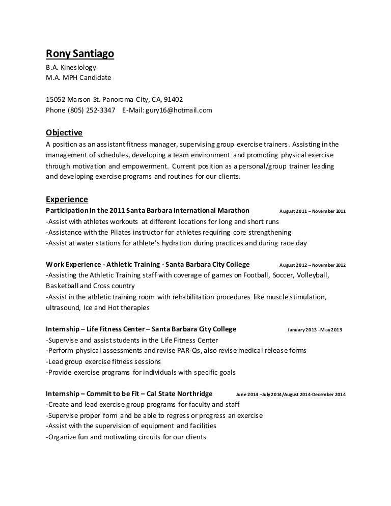 Fitness Coordinator Cover Letter Best Sample Cover Letters Need ...