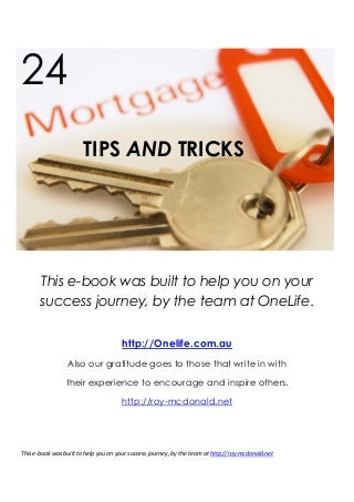 24 Mortgage Tips And Tricks