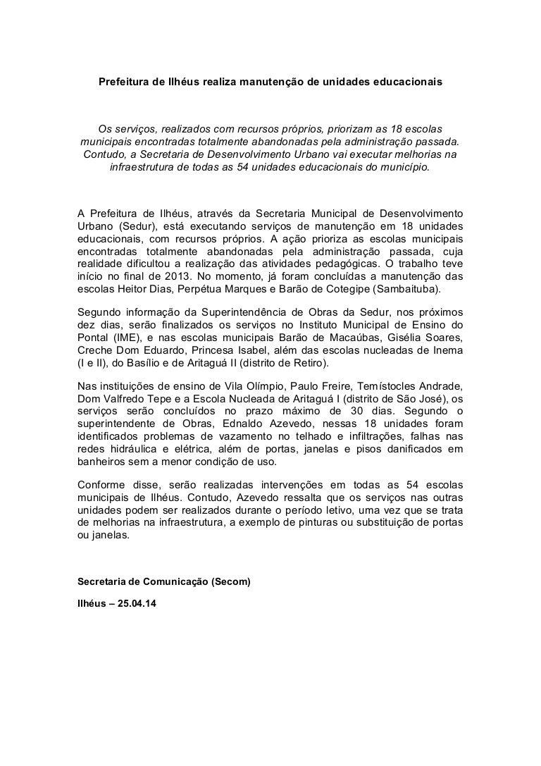 25 04 14 Prefeitura de Ilhéus realiza manutenção das