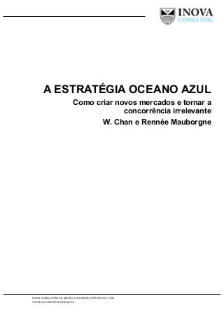 A estratégia oceano azul