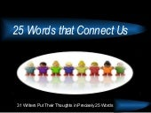 25 Words that Connect Us