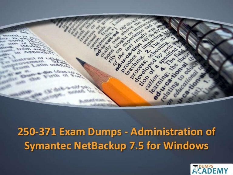 250-271 administration symantec net backup 7. 5 for unix exam | udemy.