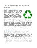 The Circular Economy and Sustainable Packaging