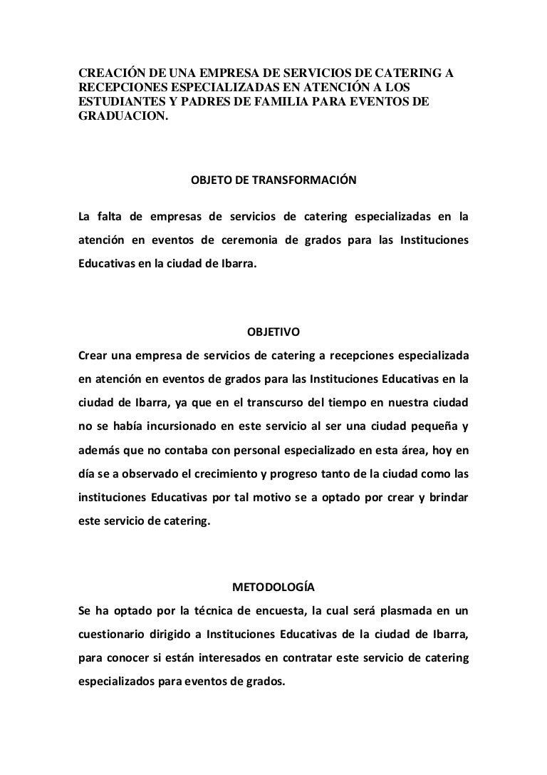Contemporáneo Carta De Presentación Del Servicio De Comida ...