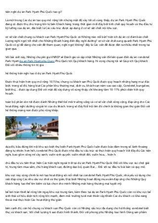 Review gia ban Park Hyatt phu Quoc của chuyên gia bất động san