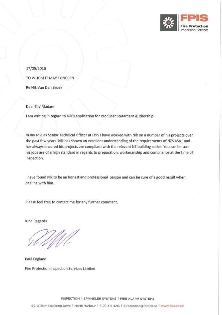 Competency letter   Paul FPIS