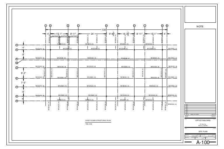 MODULE-24 FIRST FLOOR STRUCTURAL PLAN-Module06-24x36 Title