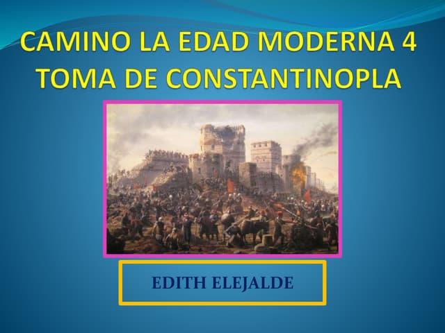 CAIDA DE CONTANTINOPLA