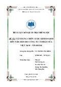 Tiểu luận xây dựng chiến lược kinh doanh của công ty vinamil đến năm 2020_Nhận làm luận văn Miss Mai 0988.377.480