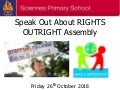 Sciennes Speak Out Right Assembly 26.10.18