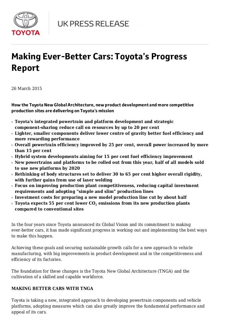 Toyota New Global Architecture Officially Revealed