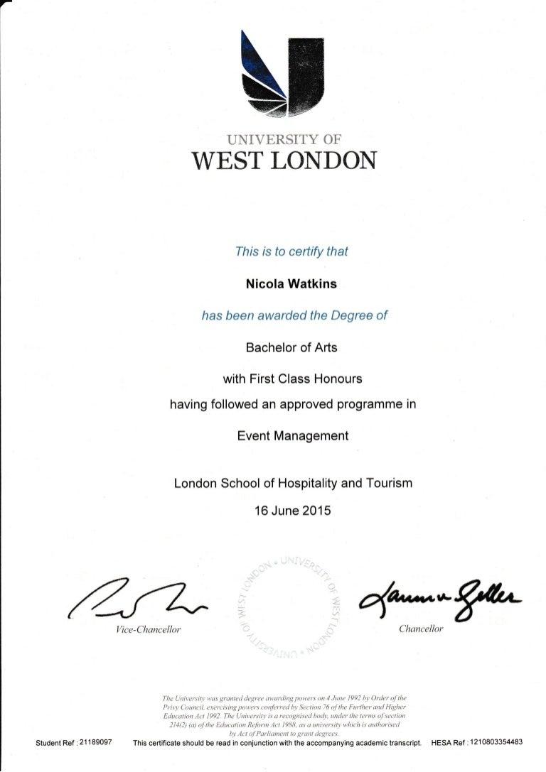 uwl degree certificate