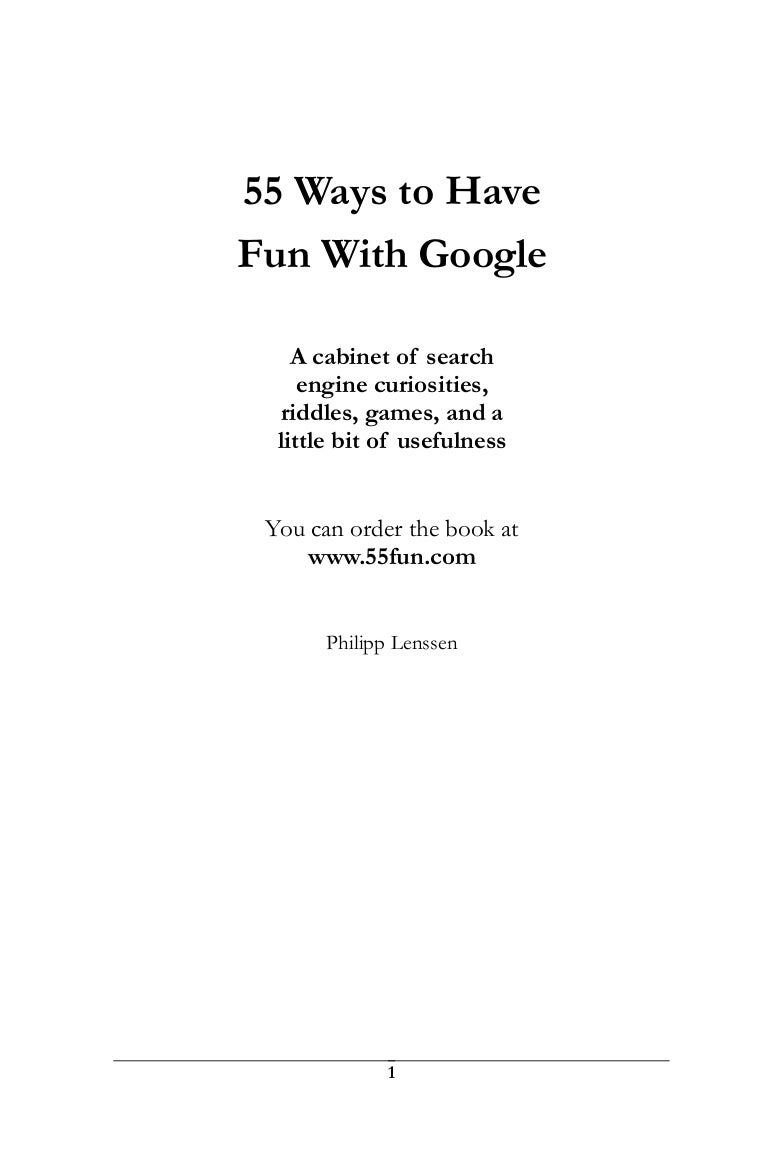 Ways To Have Fun With Google - Free blank invoice template nintendo online store