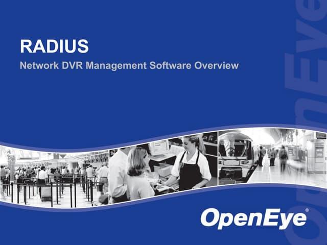 Openeye Radius Overview