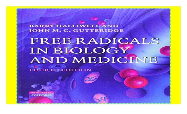 free radicals in biology and medicine halliwell pdf