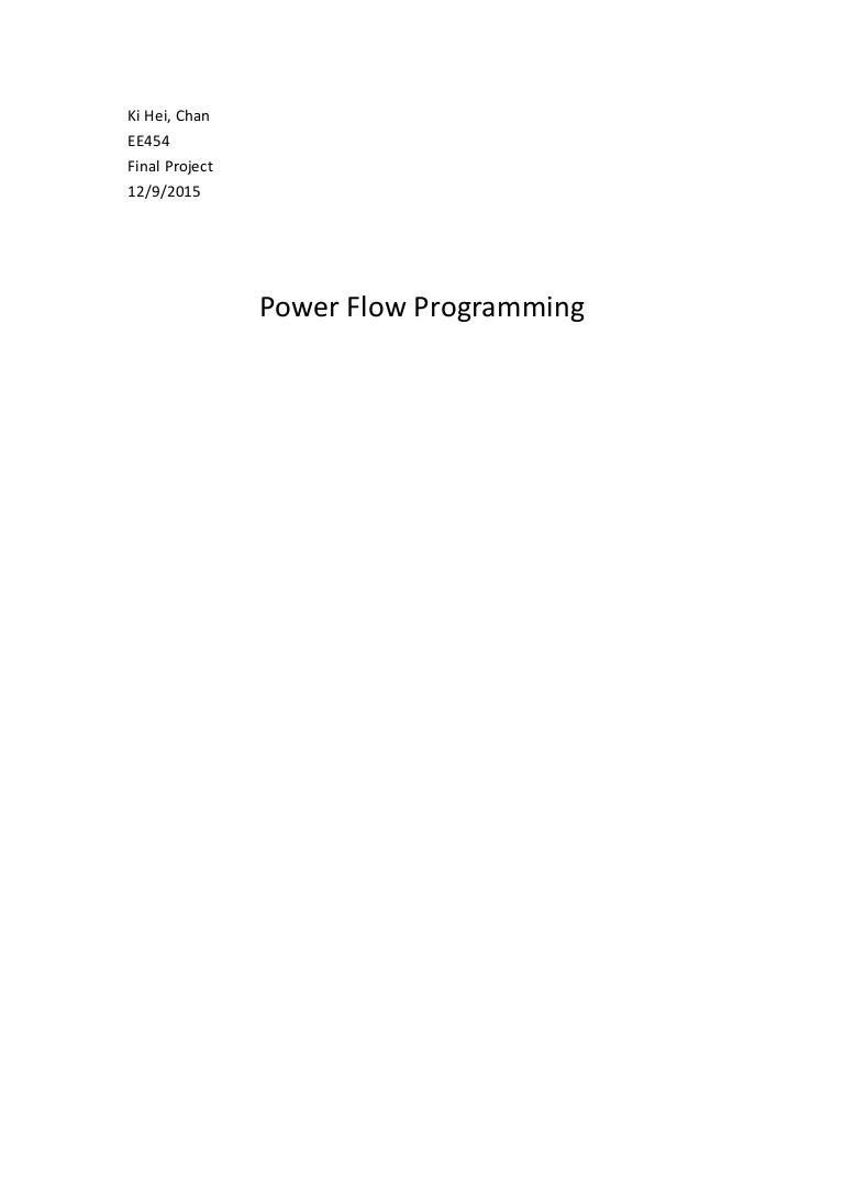 EE454_Power Flow Programming