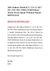 allis chalmers big ten big 10 tractor service manual parts catalog 2 manuals download