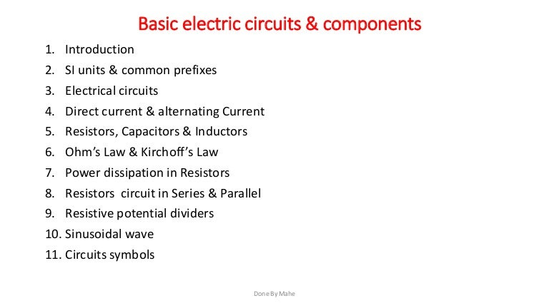Basic Electrical