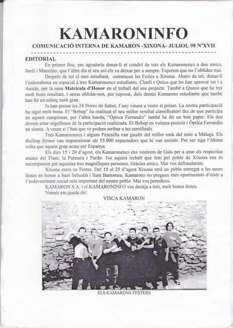 27. kam núm. 27 juliol 1998