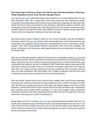 www.togelkita.org - Agen Togel - pasar togel sangat erat kaitannya dengan judi togel dan agen togel dimana keduanya tidak hanya mampu menigkatkan finansial tetapi adrenalin juga dapat terpicu.