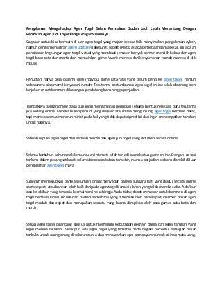 www.togelkita.org - Agen Togel - pengalaman mengahadapi agen togel dalam permainan sudah jauh lebih menantang dengan permaian agen judi togel yang beragam jenisnya