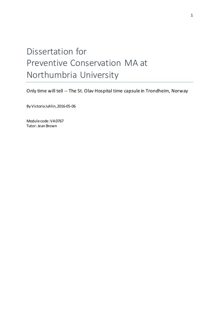 Dissertation For Preventive Conservation MA At Northumbria University - Microsoft word photography invoice template online vapor store