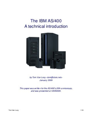 introduction to the ibm as400 - As400 Computer System