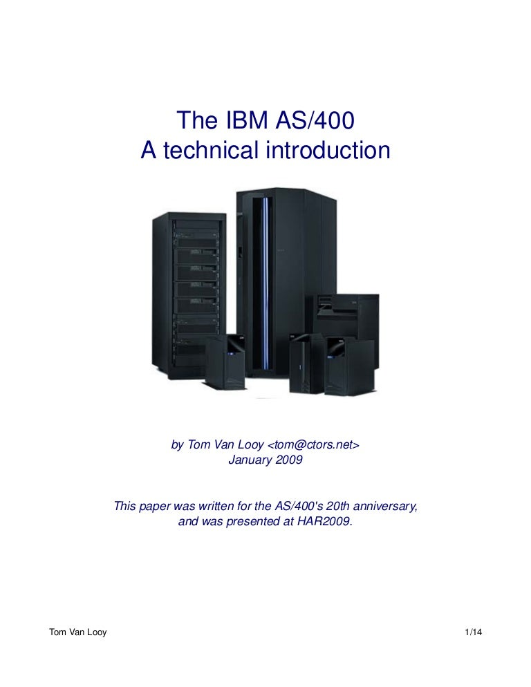 introduction to the ibm as400. Resume Example. Resume CV Cover Letter