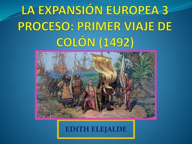 PRIMER VIAJE DE CRISTABOL COLON