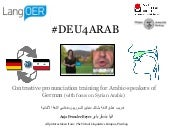 The Case Study of the MOOC #Deu4Arab: A Practical Pronunciation Training for Syrian Learners of German