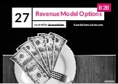 27 Revenue Model Options B2B (curated by @arnevbalen - Board of Innovation)