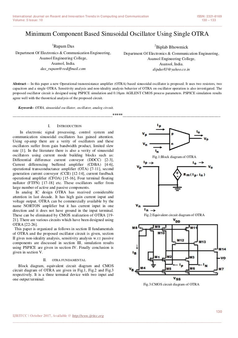 Minimum Component Based Sinusoidal Oscillator Using Single Otra Cmos Circuit Diagram 28150960983102 11 2017 180128153151 Thumbnail 4cb1517154137