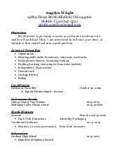 Maintenance & Former Inmate Resume